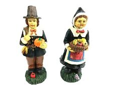 Harvest Collection ~ Wooden Pilgrim Set of 2 - With Box