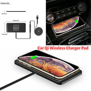 Car QI Wireless Charger Pad Dashboard USB Holder Non-Slip Mat For iPhone Samsung