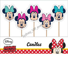 DISNEY MINNIE MOUSE CAKE CANDLE PARTY GIRL BIRTHDAY TOPPERS HOT PINK 5PK