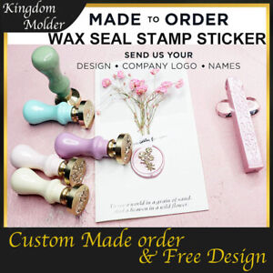 Custom Made Personalized Logo Design Wedding Card Invitations Wax Seal Stamp