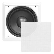 "In Wall Inwall Hi Fi Surround Sound Subwoofer 10"" 5.1 7.1 Sub Cinema Speaker"
