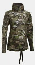 $110 Under Armour Hunting Top Women's Sz LARGE Ridge Reaper Forest Camo 1297415