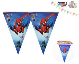 Spider-Man Banners, Bunting & Garlands Kids Birthday Party Supply 8ft Fast Ship