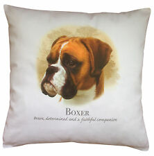 Boxer Dog   100% Cotton Cushion Cover with Zip   Howard Robinson   Perfect Gift