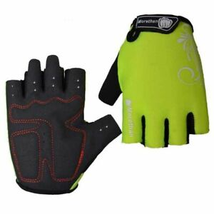 Unisex Shockproof Pad Cycling Gloves Half Finger Sport Bicycle Gym Fitness Gift