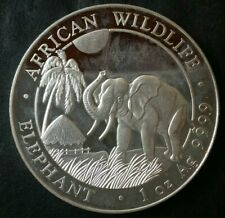 2017 Somali Republic 100 Shillings 1oz Silver African Wildlife Elephant Commemor