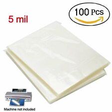 5 Mil Clear Letter Size Laminating Laminator Pouches Paper Sheets 9x115 100pcs