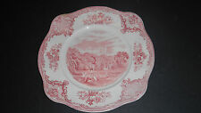 "JOHNSON BROS ENGLAND ""OLD BRITAIN CASTLES"" PINK TEA SIDE PLATE BELVOIR CASTLE"