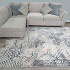 Marbled Effect Rugs for Living Room Lustrous Sheen Glamorous Striking Area Rug