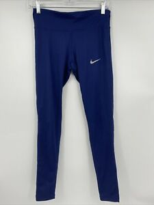 Nike Dry Fit Leggings, Navy Blue, Size Small, Womens