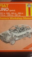 HAYNES FIAT UNO 1983 TO 1988 903,999,1116,1299,1301CC OWNERS WORKSHOP MANUAL 923