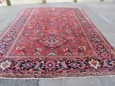 Antique Traditional Hand Made Oriental Wool Red Blue Large Carpet 402x297cm