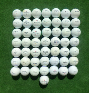 50 Stück gebrauchte Golfbälle sortiert alle Marken Qualitäten wie abgebildet