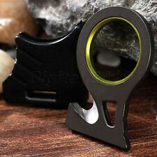 Useful Car Rescue Seat Belt Rope Cutter Safety Knife Keychain Ring EDC Tool Kit