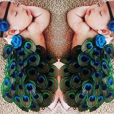 0-12M Newborn Baby Girl Boy Peacock Headband Crochet Costume Photo Prop Outfits