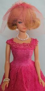 VINTAGE BARBIE DREAM IN COLOR LACE GOWN SET VON PLATSY STACEY WENDY BABS SZ. 🌷