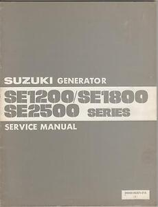 1982 SUZUKI SE1200/1800/2500 GENERATOR SERVICE MANUAL P/N 99500-90301-01E (105)