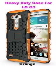 Orange Strong Handyman TPU Hard Case Cover Stand for LG G3, Heavy Duty & Tough