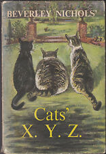 Beverley Nichols' Cats XYZ - 1st/1st Cape 1961 in DW - Derrick Sayer - Nice Copy
