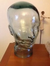 glass head bust hat stand display face