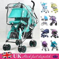 Universal Stroller Rain Cover Clear Raincover for Buggy Pushchair Pram Baby Car