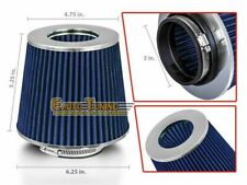 "3"" Short Ram Cold Air Intake Filter Round/Cone Universal BLUE For Jeep 3"