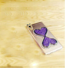 Furry Soft Rabbit Fur Ball Bling Glitter Diamond Dynamic Quicksand Case Cover