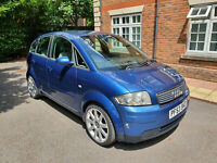Audi A2 1.4 TDi 90 2003 Blue 133k Miles MOT July 2021