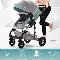 3 In 1 Luxury Baby Stroller Bassinet Car Seat High View Pram Foldable Pushchairs