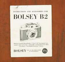 BOLSEY B2 INSTRUCTION BOOK/56776
