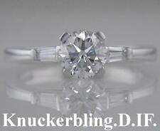 Diamond Engagement Ring in 18ct White Gold Brilliant Cut Certified D IF 0.60ct