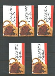PORTUGAL-5 x Booklets of 5x70$ stamps NR.80  -1991 -ROYAL TREASURES