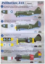 Print Scale Decals 1/32 POLIKARPOV I-16 Fighter in International Service Part 2