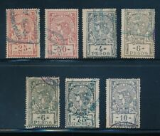 ARGENTINA 1899-1901 REVENUE BILL STAMPS 7 DIFFERENT