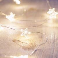 String Light Bulbs Battery Operated Fairy Lights Garland For Christmas Party New