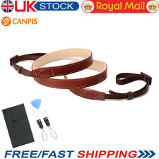 Uk Canpis Universal Adjustable Leather Soft Shoulder Camera Neck Strap ( Brown)