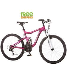 "Mongoose Aluminum Mountain Bike 24"" Girl Pink Lightweight 21 speed Bicycle New!"
