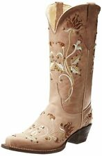 Ferrini Women's Desert Bloom Western Boots SIZE 6.5 Taupe NEW +FREE Priority s&h