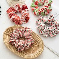 4PCS Elastic Hair Scrunchie Velvet Hair Bands Christmas Ponytail Hair Rope Tie√