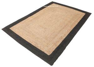 Rug Runner Natural Jute Handmade Braided style rug Reversible Living Area Rugs