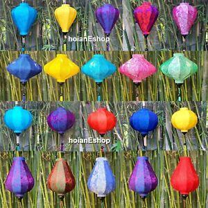 Set 20 silk lanterns 35cm for Garden decor - Wedding decor - Christmas decor