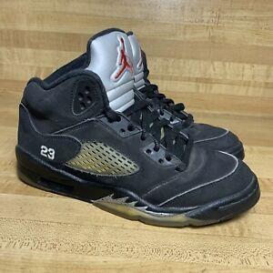 Air Jordan 5 V Metallic Silver 4Y Youth 440888-010  GS 2011 Black Retro