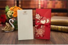 Custom Personalized Printing Wedding Invitation Cards with Envelopes Seals