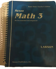 saxon math 3 Home Study teacher's edition