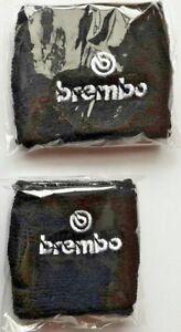 Polsini Coppia Moto Serbatoio Olio Freno Frizione logo Brembo Bianco Nero