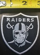 """OAKLAND RAIDERS Skull Skeleton 2.75"""" Iron/Sew on Patch~FREE SHIPPING FROM THE US"""