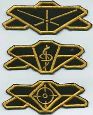Babylon 5 Earth Force Division Patch Set of 3: Command, Medical, Security