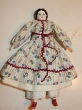 """Vintage China Head Reproduction Of Antique Doll 7"""" Dollhouse House Size"""