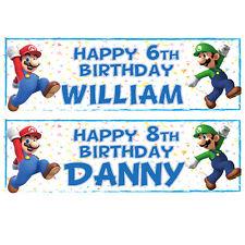 buy blue birthday child party banner ebay