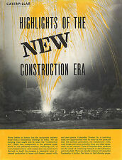 Caterpillar Construction Booklet 1955 D9D D8D,E D7C 955